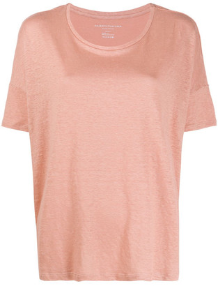 Majestic Linen Blend Boxy Fit T-shirt