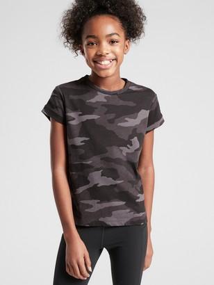 Athleta Girl Black Camo Daily Tee