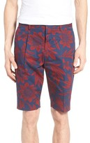 Antony Morato Men's Floral Print Pleated Shorts