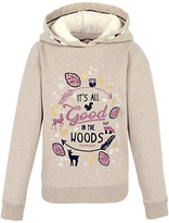 Fat Face Children's Popover Marl Hoodie, Oatmeal