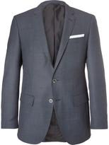 HUGO BOSS Blue Hutsons Slim-Fit Virgin Wool Blazer