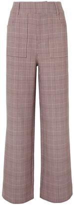 Ganni Checked Cady Straight-leg Pants