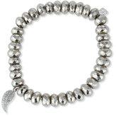 Sydney Evan Jewelry Pyrite Bead Bracelet w/ 14K Gold Diamond Wing Charm