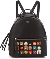 Fendi Embellished mini leather backpack