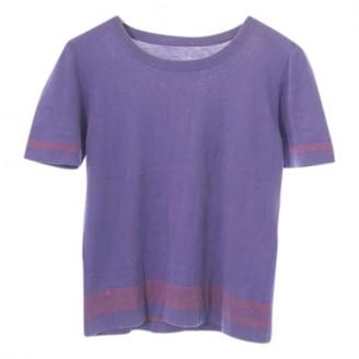 Louis Vuitton Purple Cotton Tops