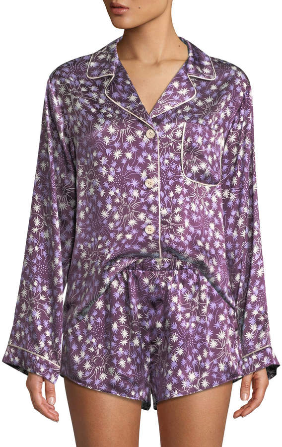 Morgan Lane Dandelion Jayne Silk Pajama Top