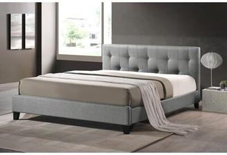 "Wrought Studioâ""¢ Casias Upholstered Platform Bed Wrought Studioa Size: Queen, Color: Gray"
