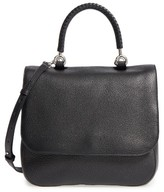Max Mara Top Handle Leather Satchel - Black