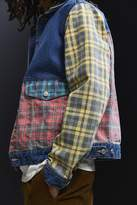 BDG Printed Colorblock Denim Trucker Jacket