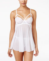 Maidenform Super Sexy Big Floral Lace Baby Doll with Matching Thong MFB103, A Macy's Exclusive