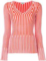 Kenzo striped knitted top