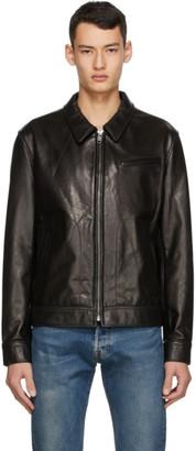 Schott Black Leather Unlined Jacket