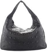 Bottega Veneta Black Leather Studded Large Hobo Handbag
