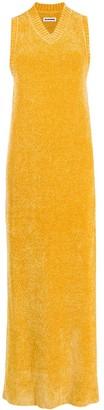 Jil Sander sleeveless long velvet knitted dress