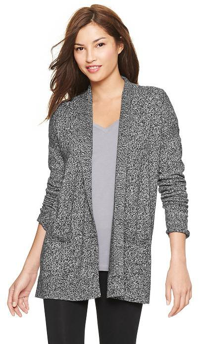 Gap Pure Body marled open-front cardigan