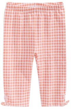 First Impressions Baby Girls Gingham-Print Keyhole Capri Pants, Created for Macy's