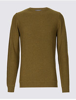 Limited Edition Cotton Blend Textured Crew Neck Jumper