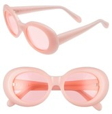 Acne Studios Women's Mustang 47Mm Oval Sunglasses - Pink / Fluo Pink