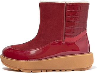 FitFlop Elin Croc-Embossed Ankle Boots