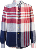 Moncler Gamme Bleu checked long sleeve shirt - men - Cotton/Linen/Flax - 1