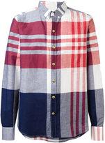 Moncler Gamme Bleu checked long sleeve shirt - men - Cotton/Linen/Flax - 1