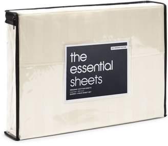 Organic Dobby Stripe Sheet Set, Queen - 100% Exclusive