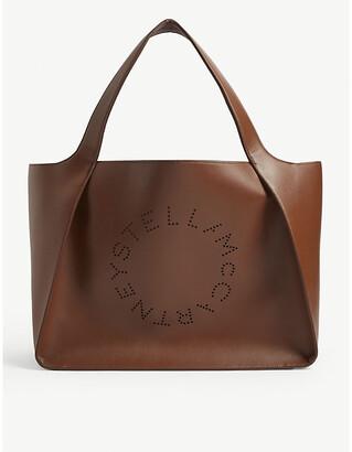 Stella McCartney Perforated logo tote bag
