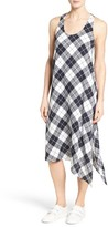 Nordstrom Women's Plaid Stretch Silk Slipdress