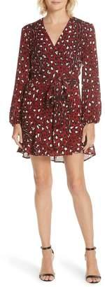 A.L.C. Michaela Leopard Print Silk Wrap Dress