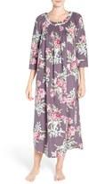 Carole Hochman Print Flannel Nightgown