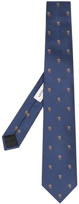 Alexander McQueen Skull-Pattern Tie