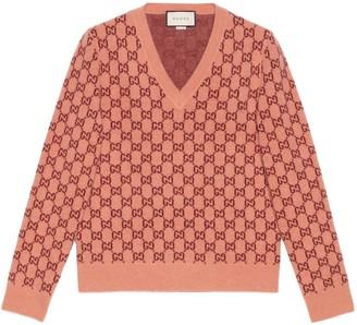 Gucci GG wool V-neck jumper