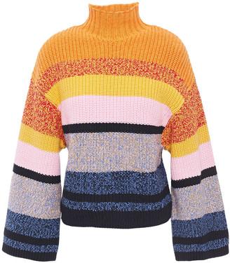 Current/Elliott Soleil Striped Cotton And Cashmere-blend Sweater