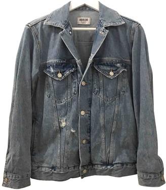 A Gold E Blue Cotton Jacket for Women