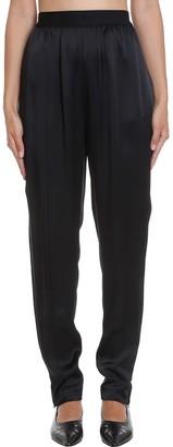 Maison Margiela Pants In Black Synthetic Fibers