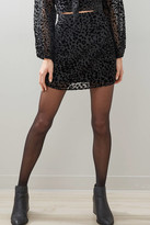 Sadie & Sage Burnout Leopard Skirt Black L