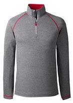 Lands' End Men's Big Long Sleeve Active Half Zip Pullover-Pewter Heather