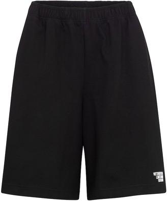Vetements Logo cotton jersey shorts