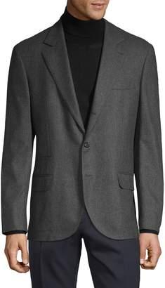 Brunello Cucinelli Standard-Fit Wool, Silk & Cashmere-Blend Sportcoat