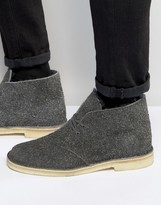 Clarks Wooly Desert Boots