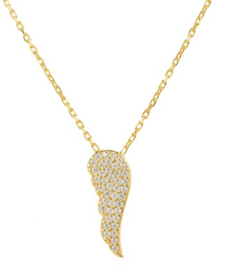Small Angel Wing Necklace Gold