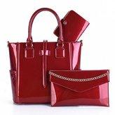 SAICHENG 3 Set Wax Oiled Composite PU Leather Bag Handbags