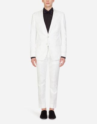 Dolce & Gabbana Jacquard Martini Suit