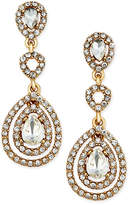 Charter Club Gold-Tone Crystal and Pavé Orbital Drop Earrings, Only at Macy's