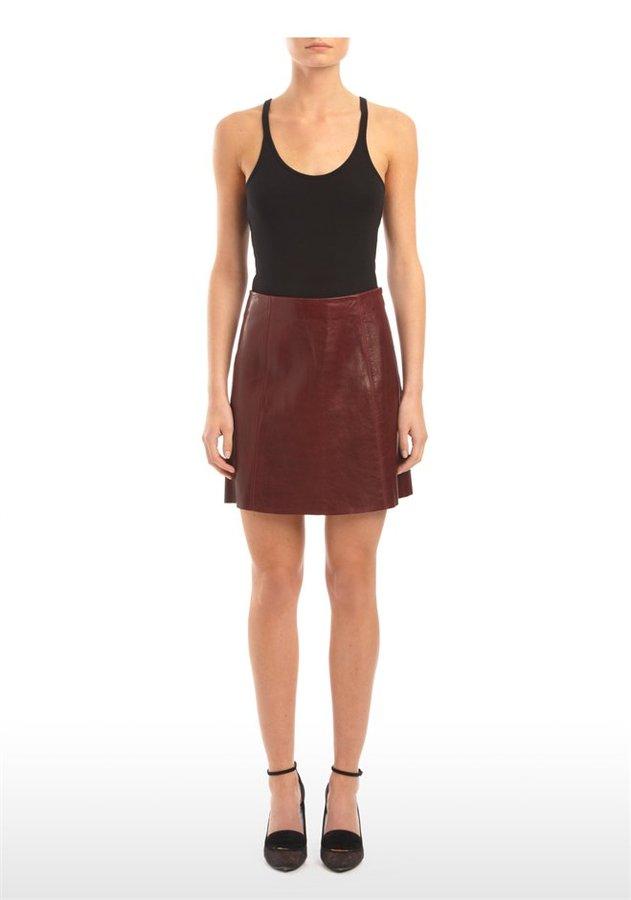 Alexander Wang Leather A-Line Mini Skirt