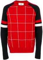 Ami Alexandre Mattiussi tricolour crewneck sweater