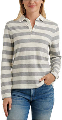 Lucky Brand Striped Long-Sleeve Rugby Shirt