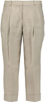 Michael Kors Pleated linen culottes