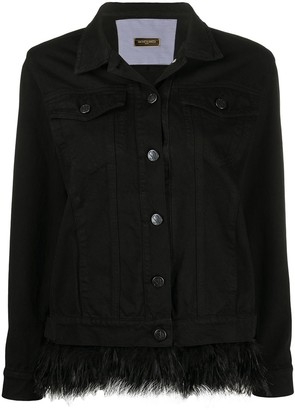 Simonetta Ravizza Feather Trim Denim Jacket