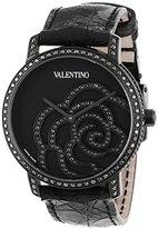 Valentino Women's V41SBQ6709SSA09 Rose Black Diamond Bezel and Dial Crocodile Leather Watch